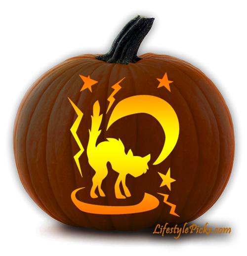 Free pumpkin carving stencils pirate cat aztec sun michael